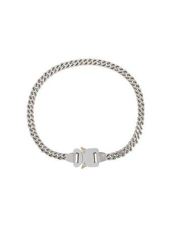 Silver 1017 ALYX 9SM curb-chain buckle necklace - Farfetch