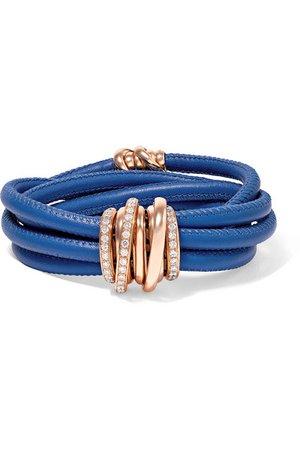 de GRISOGONO | Allegra leather, 18-karat rose gold and diamond bracelet | NET-A-PORTER.COM