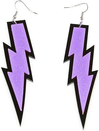 Amazon.com: ZeroShop Women Fashion Retro Neon Lightning Earrings: Sports & Outdoors