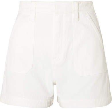 Stretch-denim Shorts - White