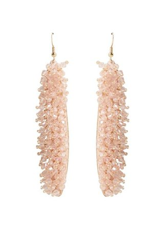 MANGO Crystal beads earrings