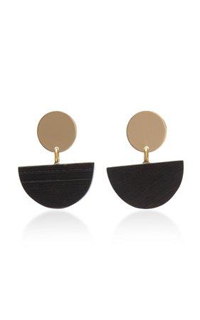 The Terra Gold-Plated Ebony Wood Earrings by Sophie Monet   Moda Operandi