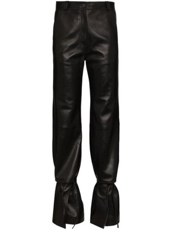 Loewe High-Waist Flared Trousers S1102990AB Black   Farfetch