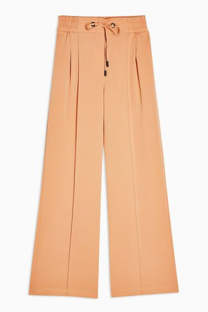 Peach Jogger Style Wide Leg Trousers   Topshop