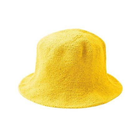 Florette Crochet Bucket Hat in Yellow   Brunna.Co   Wolf & Badger