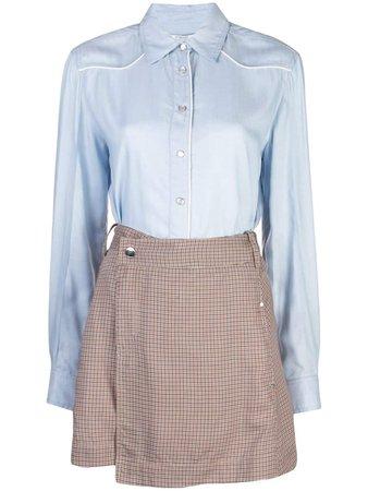 Derek Lam 10 Crosby Shirt And Skirt Wrap Dress - Farfetch