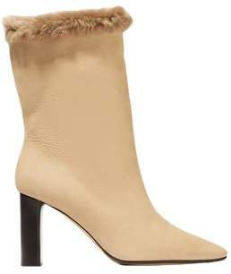 Emil Shearling-trimmed Suede Boots