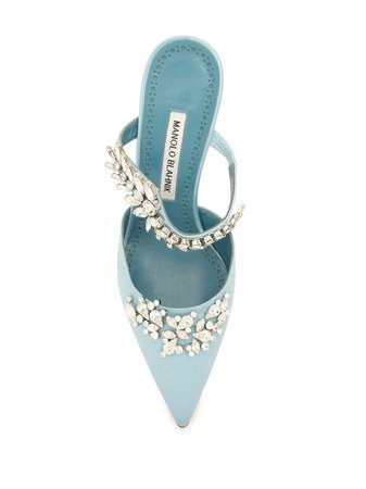 Manolo Blahnik crystal-embellished pointed-toe Pumps - Farfetch