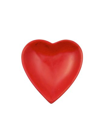 Hand-carved, Handmade Soapstone Heart Dish, Fair Trade | Red – The Little Market