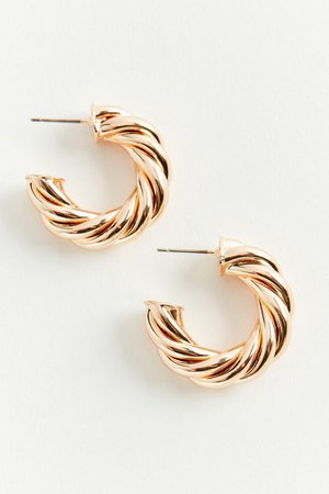 Chunky Twisted Hoop Earring | Urban Outfitters
