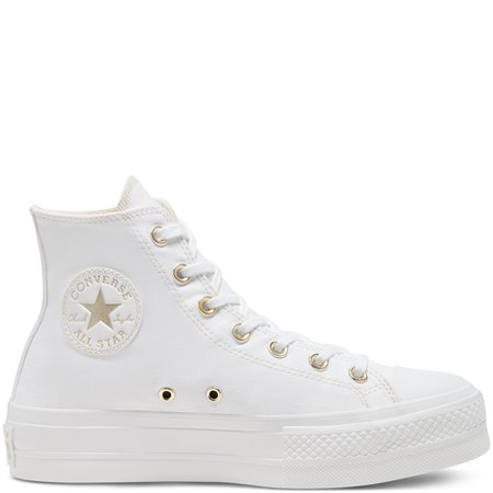 Elevated Gold Platform Chuck Taylor All Star High Top