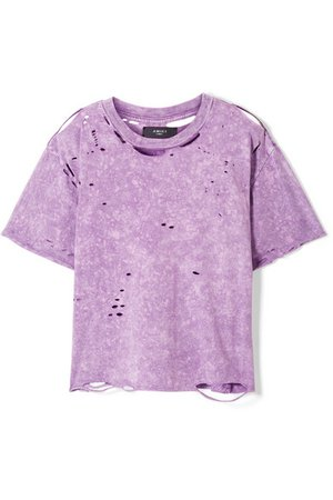 distressed purple shirt dyst