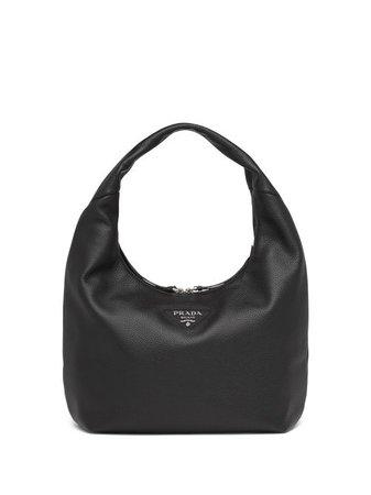 Shop Prada logo-plaque shoulder bag with Express Delivery - FARFETCH