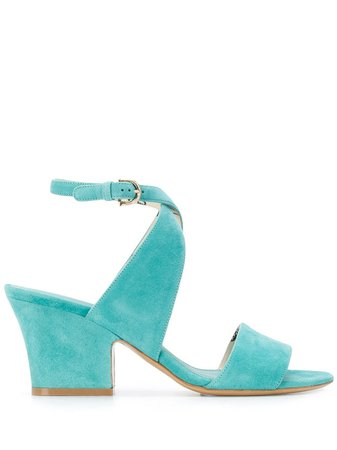 Salvatore Ferragamo Sheena Cross-Strap Mid-Heel Sandals Ss20   Farfetch.com