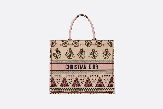 Dior Book Tote bag in embroidered canvas - Bags - Women's Fashion | DIOR