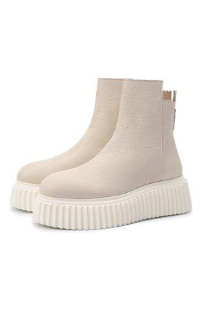 Женские белые кожаные ботинки AGL — купить за 38850 руб. в интернет-магазине ЦУМ, арт. D751507PGKI012C650