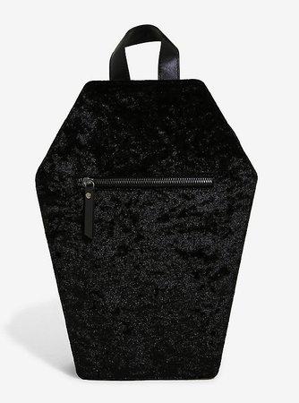 Crushed Velvet Coffin Mini Backpack
