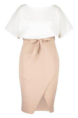 Plus Colourblock Midi Dress | boohoo