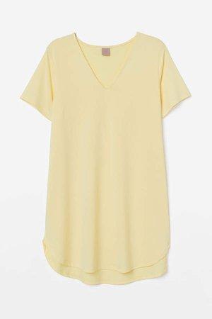 H&M+ Short-sleeved Tunic - Yellow