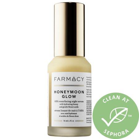 HONEYMOON GLOW AHA Resurfacing Night Serum with Hydrating Honey + Gentle Flower Acids - Farmacy   Se
