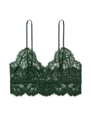 Angel Soft Bra - Dark Green - Bras - Weekday GB