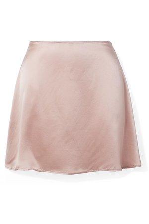 Reformation   Benson silk-satin mini skirt   NET-A-PORTER.COM