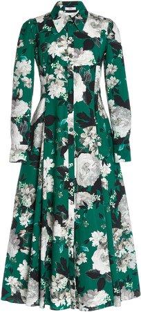 Josianna Floral-Print Cotton Shirt Dress
