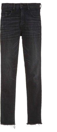 NILI LOTAN Mid-Rise Cropped Straight-Leg Jeans