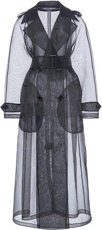 Dolce & Gabbana Sheer Tulle Trench Coat