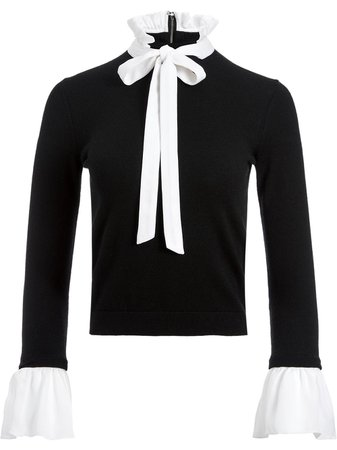 Alice+Olivia Pussy Bow Blouse