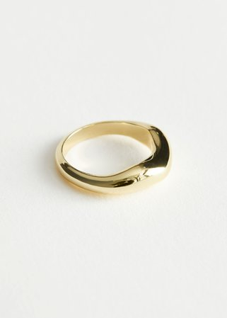 Organic Sterling Silver Ring - Gold - Rings - & Other Stories