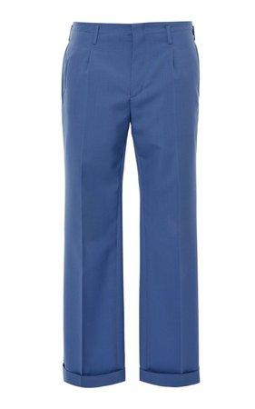 Cropped Virgin Wool Trousers by Givenchy   Moda Operandi