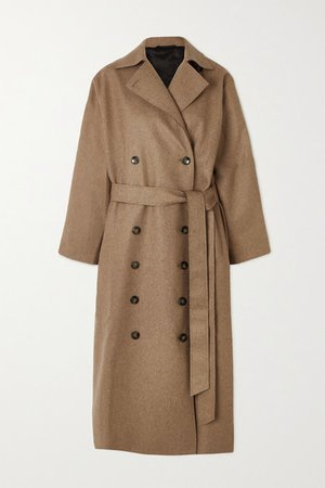 Terlago Oversized Belted Wool-blend Coat - Beige