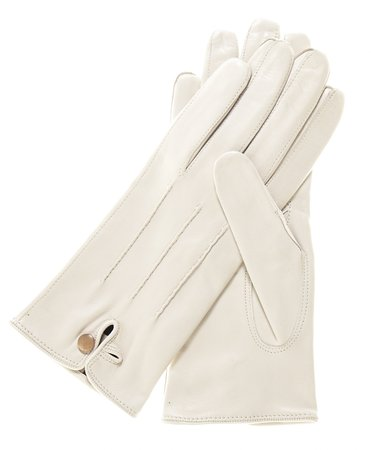 Save     Women's Italian Silk Lined Leather Gloves with Stitched Accents