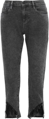 Le Garcon Frayed Low-rise Slim-leg Jeans