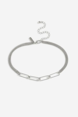 **Rectangle Link Choker | Topshop