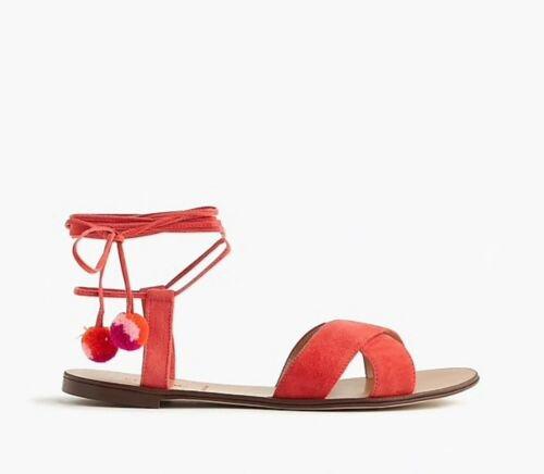 J. Crew Pom Pom Sandals | Size 6.5 | eBay