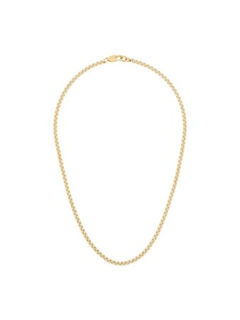 Shop gold Laura Lombardi box chain necklace with Express Delivery - Farfetch