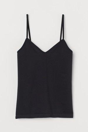 Seamless Tank Top - Black - Ladies | H&M US
