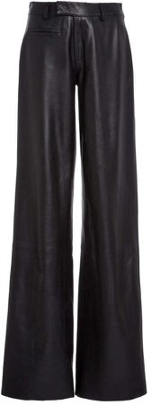 Zeynep Arcay Leather Straight-Leg Pants