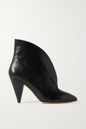 Arfee Leather Ankle Boots - Black