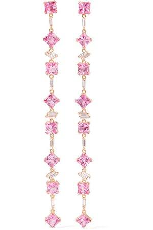 Suzanne Kalan | 18-karat rose gold, sapphire and diamond earrings | NET-A-PORTER.COM