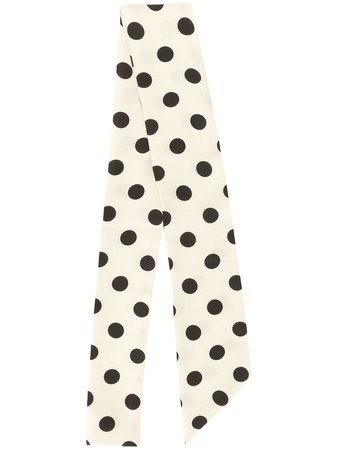 JEJIA polka dot print scarf