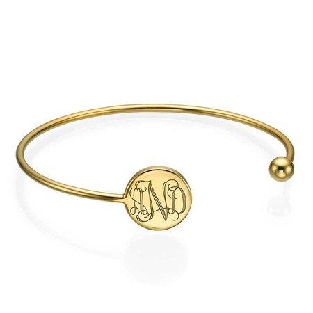 monogrammed bangle from Belle & Ten