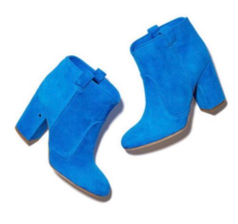 bright blue booties