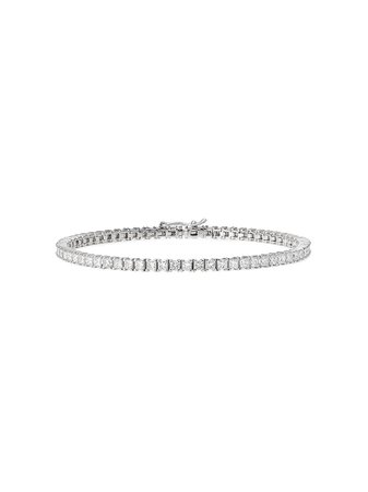 777 18kt white gold diamond bracelet - Farfetch