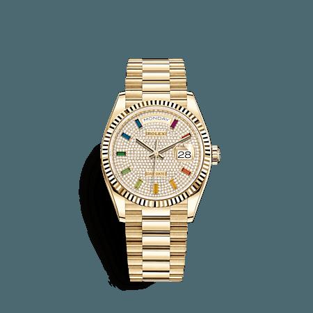 day-date 36mm yellow gold & diamonds watch