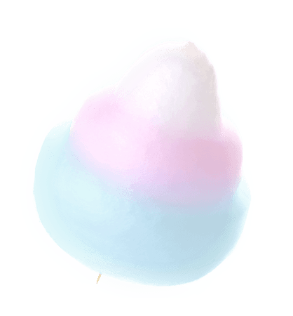 pastel cotton candy