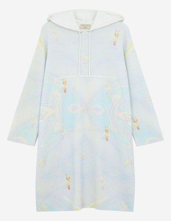 LONG SLEEVES HOODIE DRESS   Maison Kitsuné