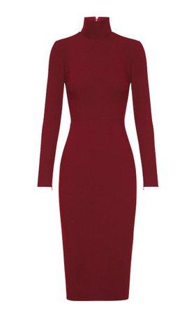 Lauchlan Crepe Turtleneck Midi Dress By Alex Perry | Moda Operandi